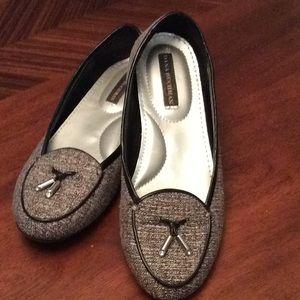 Dana Bachman Gray Tweed Tassel Loafer Size 6 M